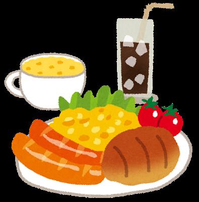 朝ごはんのイラスト