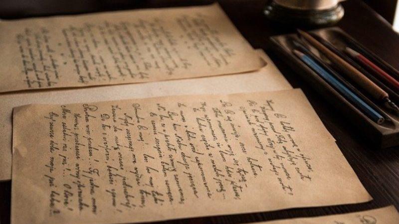 古い英字の手紙
