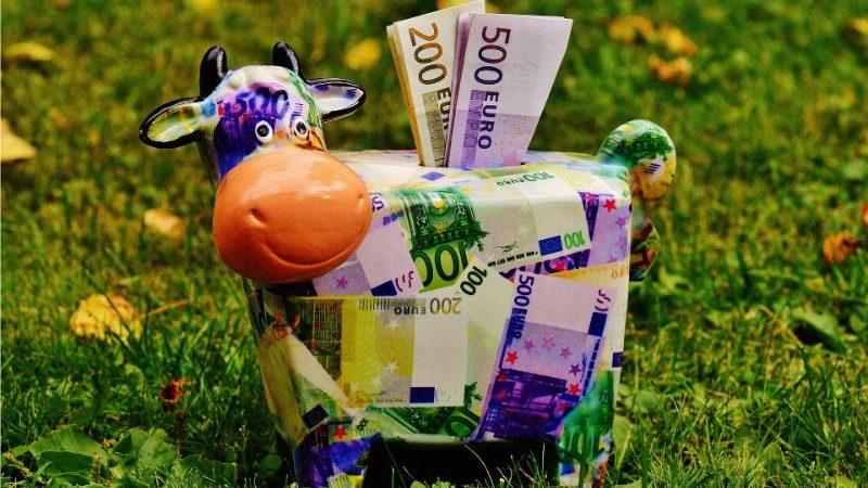 牛の貯金箱