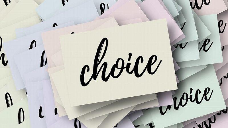 choiceの文字